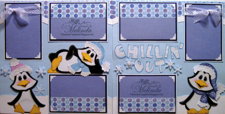 Chillin' Out Layout With Penguin Piecings