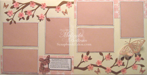 Cherry Blossoms Layout