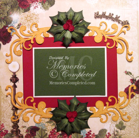 Christmas Holly and Flourishes
