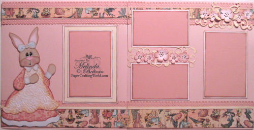 Vintage Bunny Graphic 45 layout