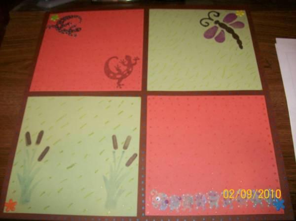 Wild Life Scrapbook Page