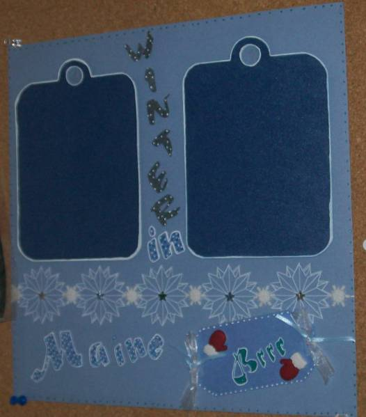 Winter in Maine Scrapbook Page