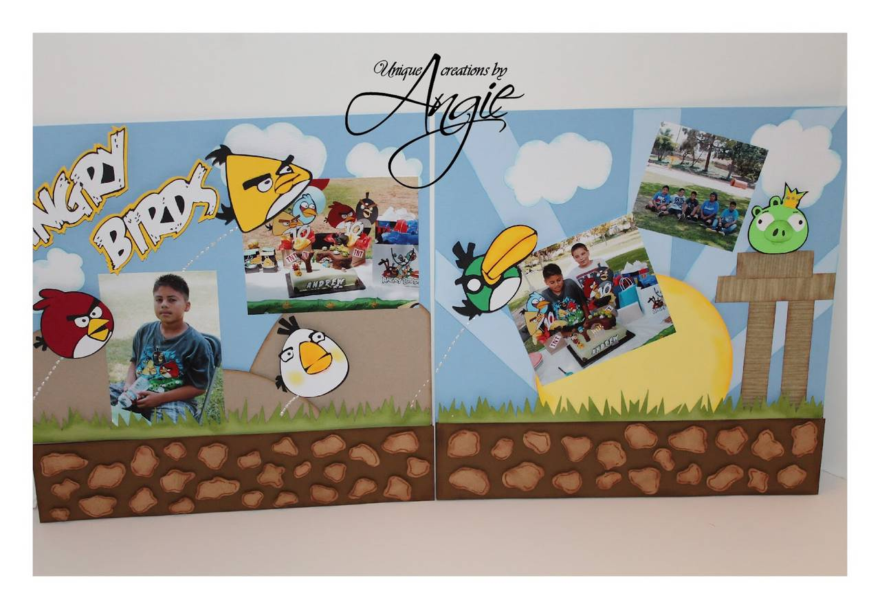 angry birds scrapbook page
