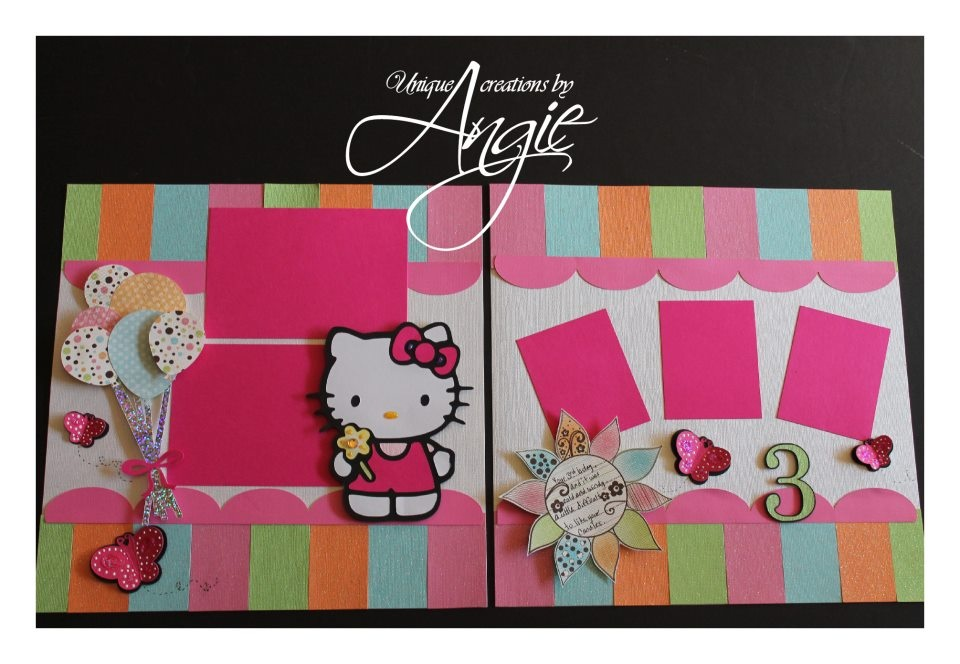 Hello kitty scrapbook page