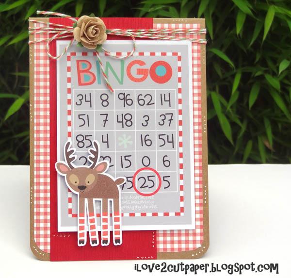 Reindeer Bingo Christmas Card