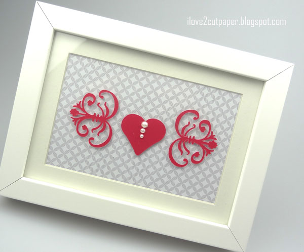 Valentine Flourish Decorative Frame