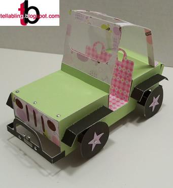 3D Construction - Jeep Money Holder