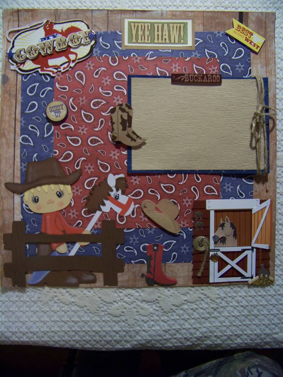 My Cowboy 12x12 Single Page Layout