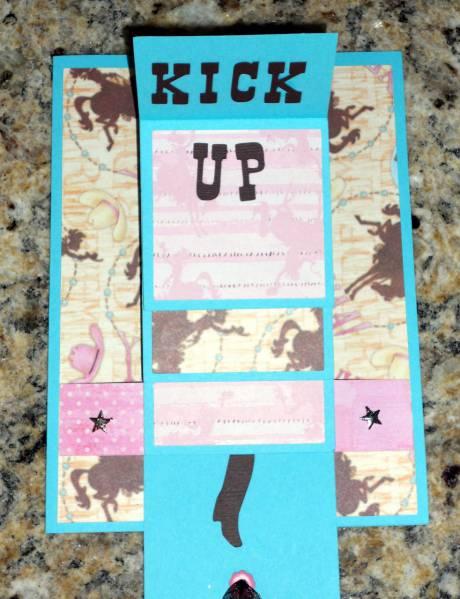 Cowgirl Waterfall Card