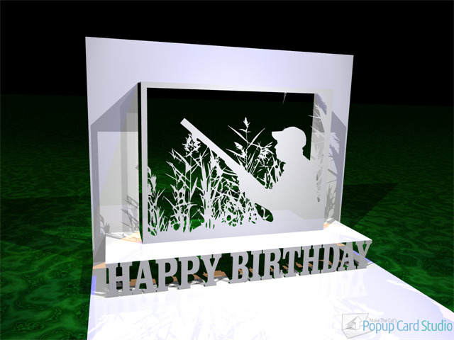 Hunter Happy Birthday Popup Card