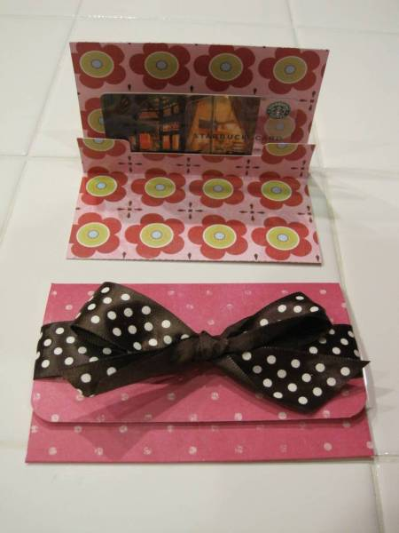 Another gift card holder with envelope