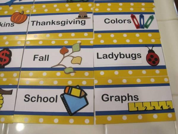 Kindergarten Library Tags