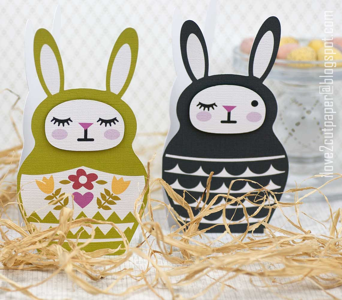 Easter Bunny shaped cards