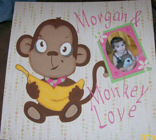 Monkey Love Scrapbook Page