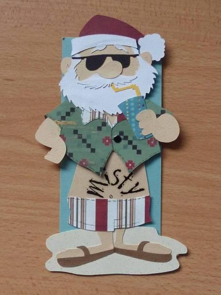 Summer Santa Gift Tag