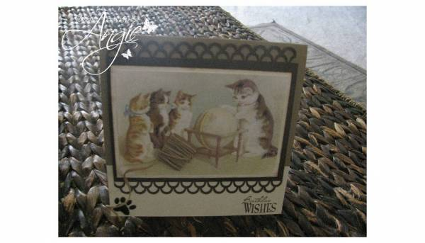 meow birthday card