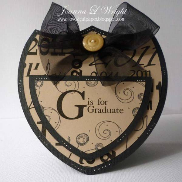 Graduate Shaped Card