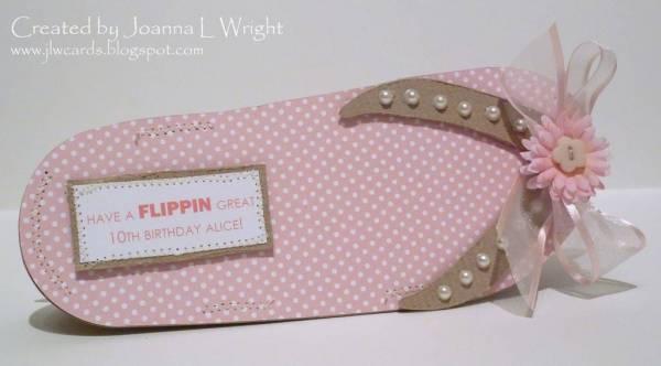 Flip Flop Shaped Card