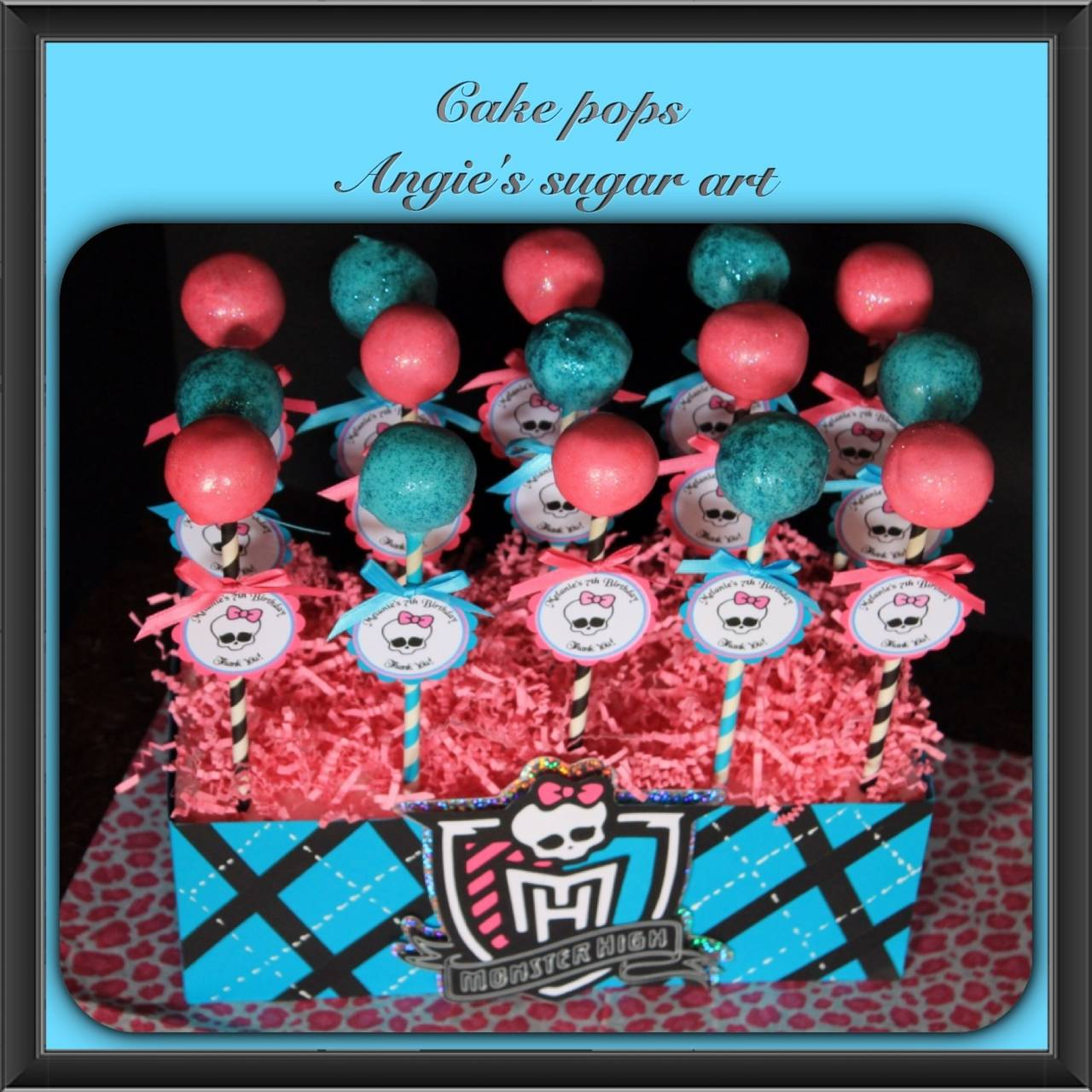 Cake pops with cake pop stand