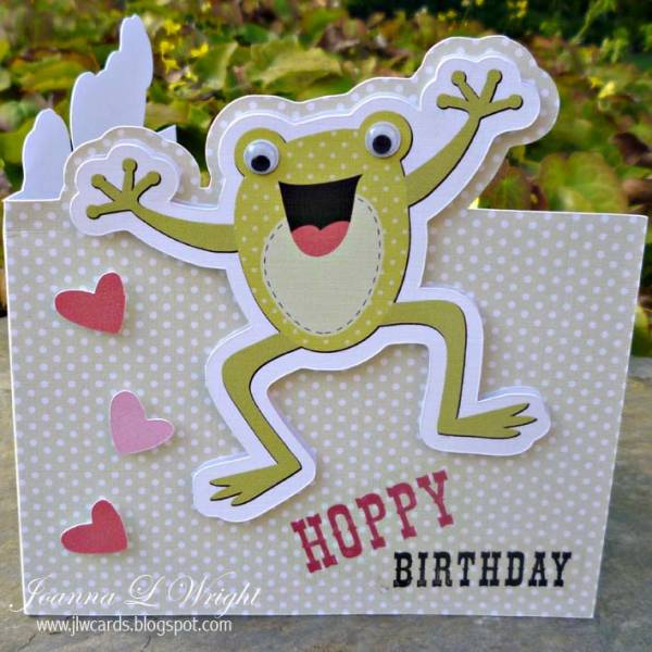 Shaped Frog Card