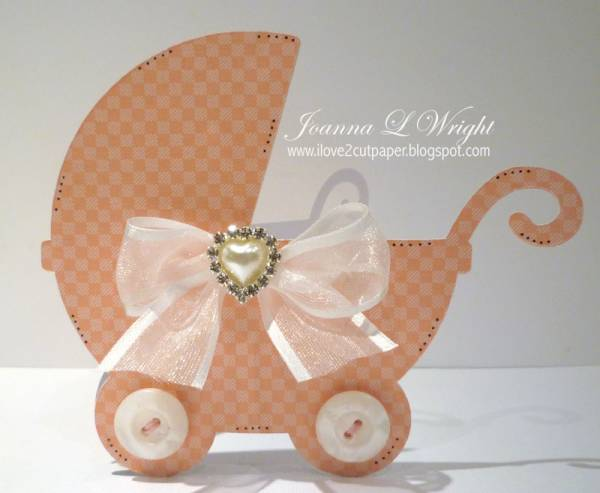 Baby Buggy Shaped Card