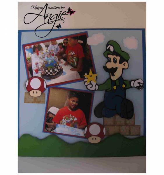 mario and luigi bday layout