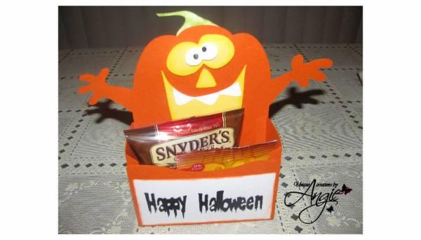 pumpkin treat holder