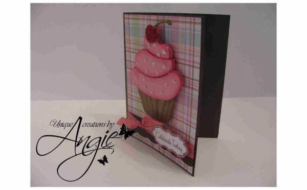 cupcake bday card