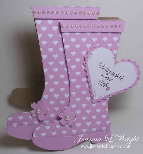 Rain Boots Shaped Card
