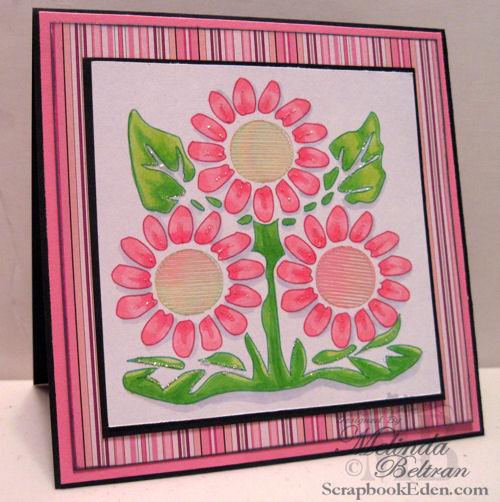 Flower Medallion Card