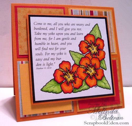 Hibiscus - Matt. 11 Card