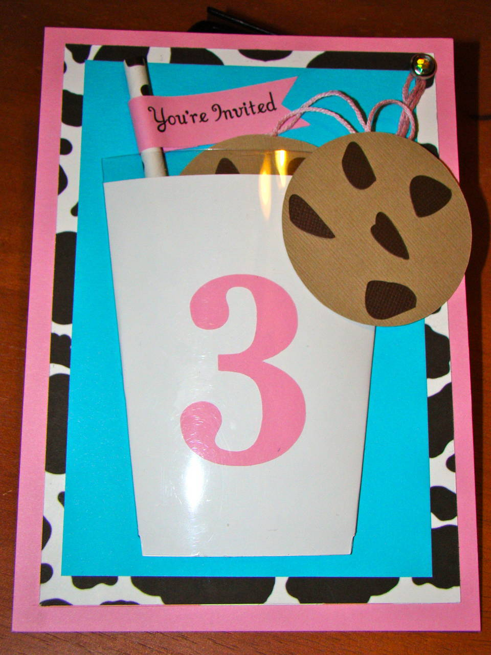 Milk and Cookies Birthday Invitation