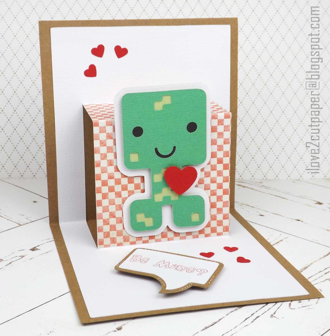 Pixelcraft Pop Up Card