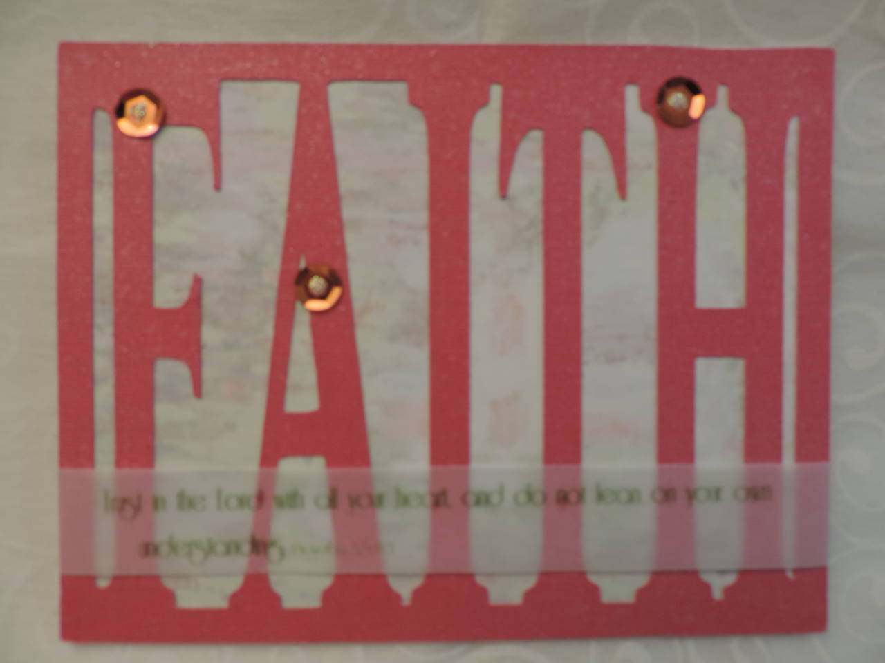Faith Word Card Front