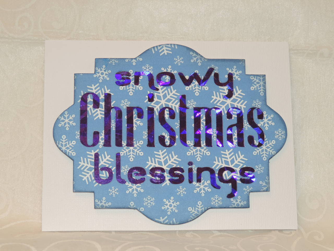 Snowy Christmas Blessings Card
