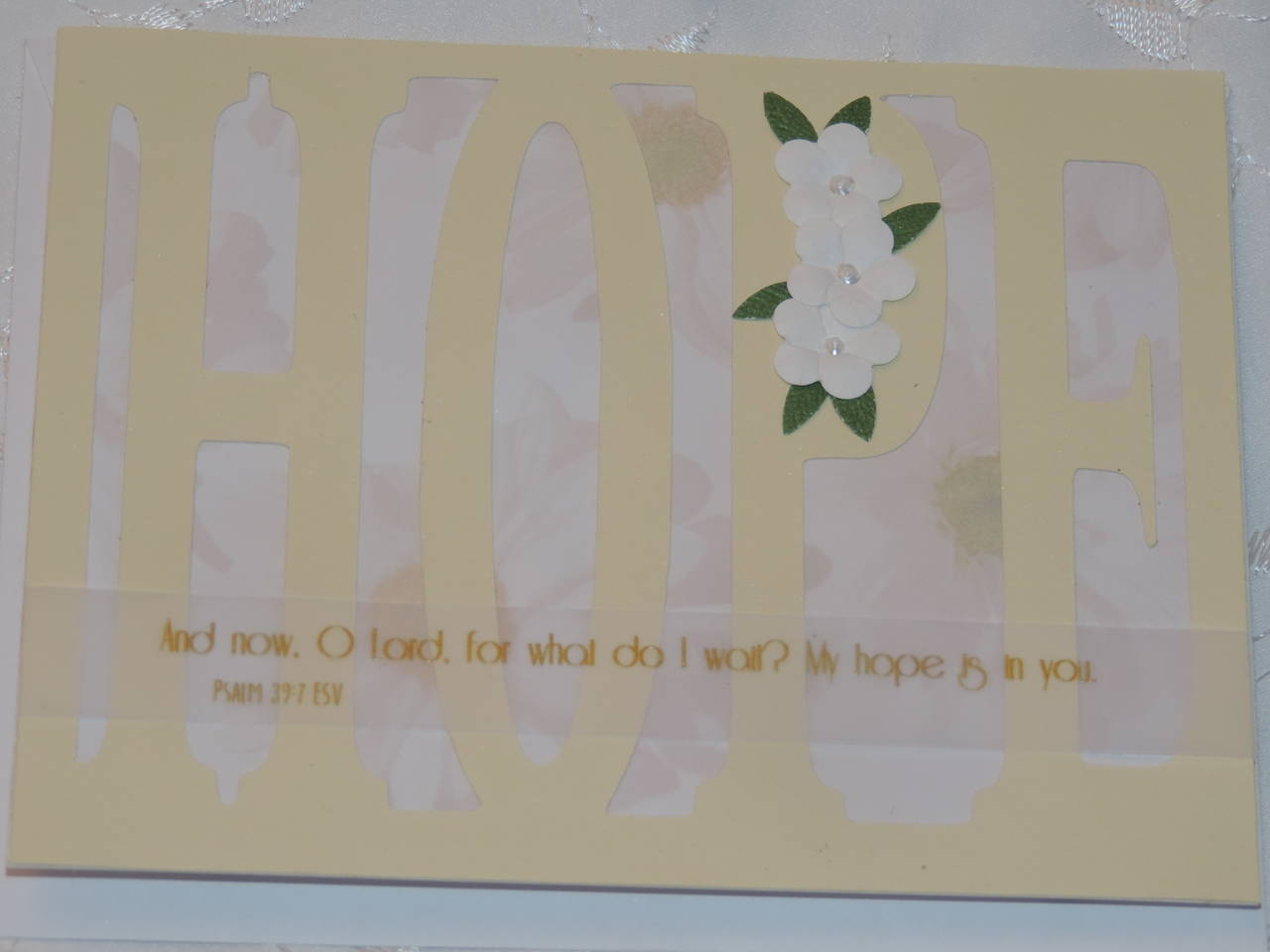 Hope Word Card Front