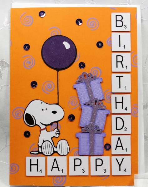 Snoopy Happy Birthday with Balloon