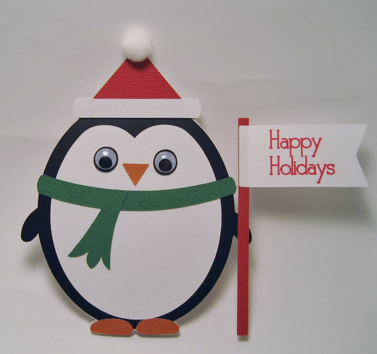 Penguin Shaped Christmas Card