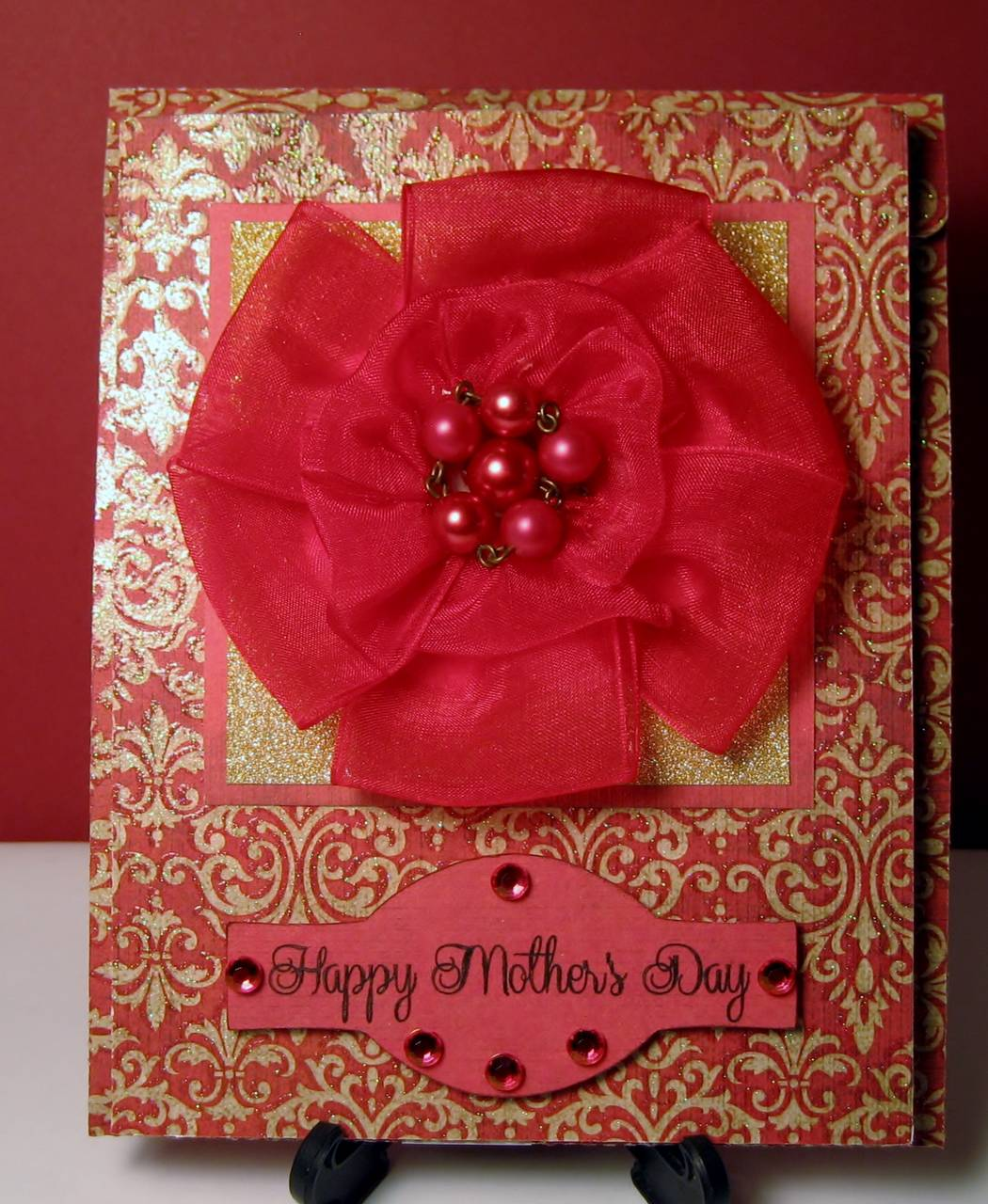 Mothers Day Cards with Ribbon Flowers