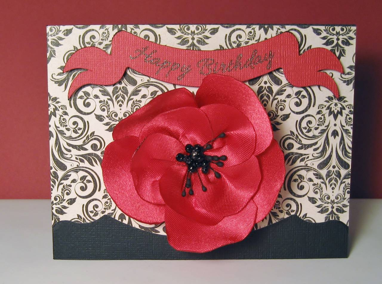 Ribbon Flower Birthday Cards