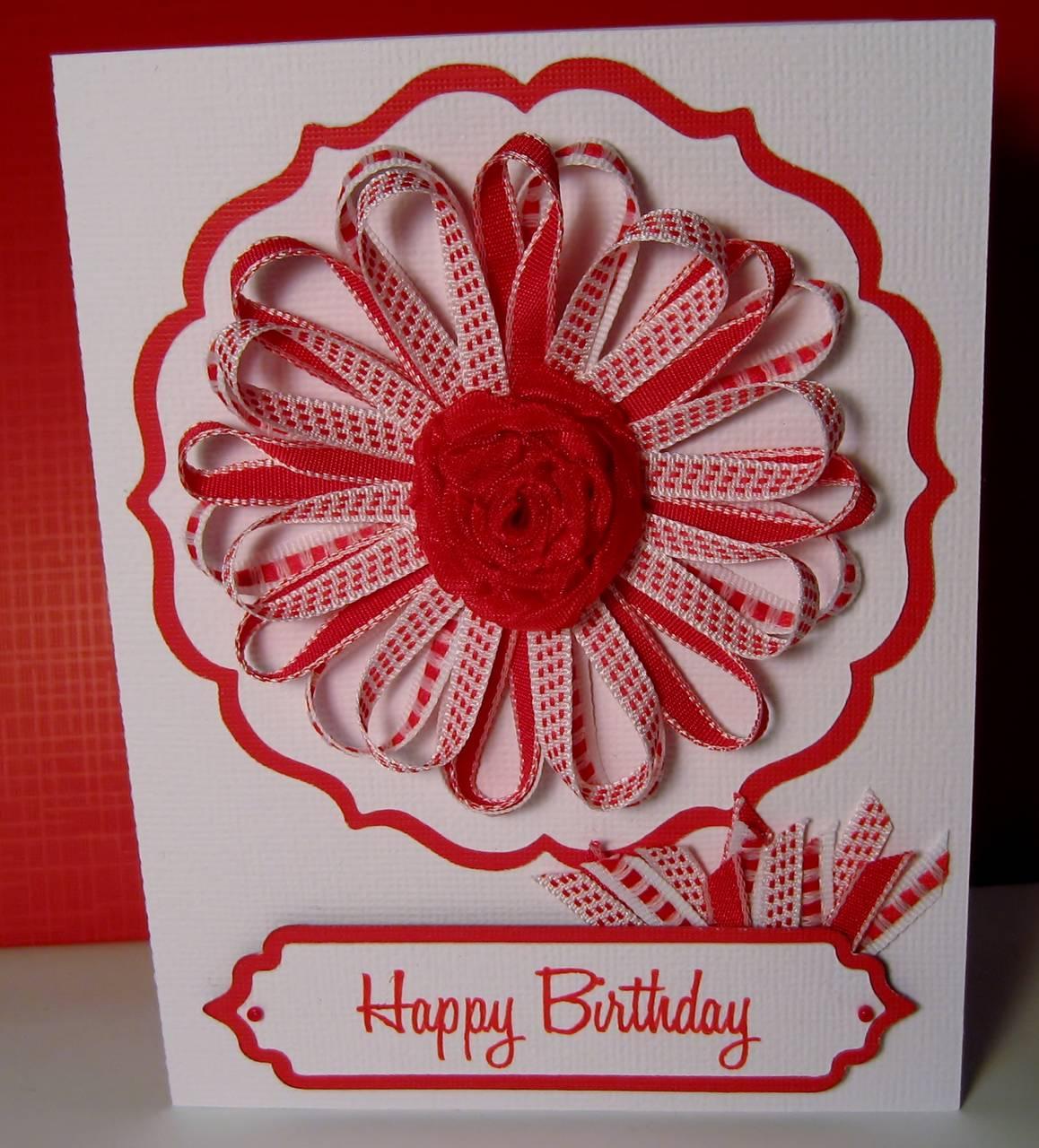 Ribbon Flower Birthday Cards