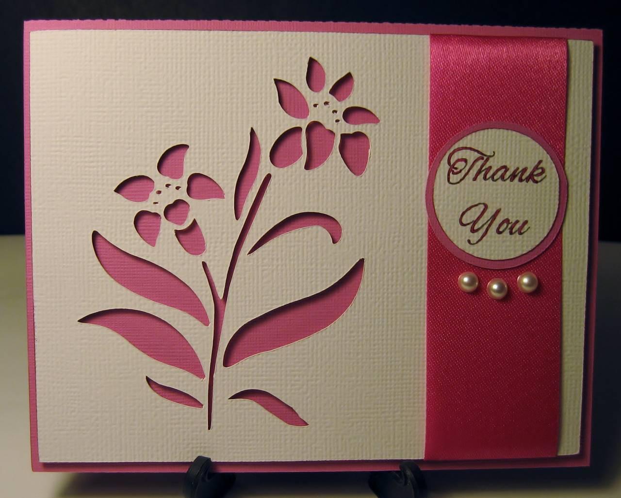 Flower Cutout Thank You Card