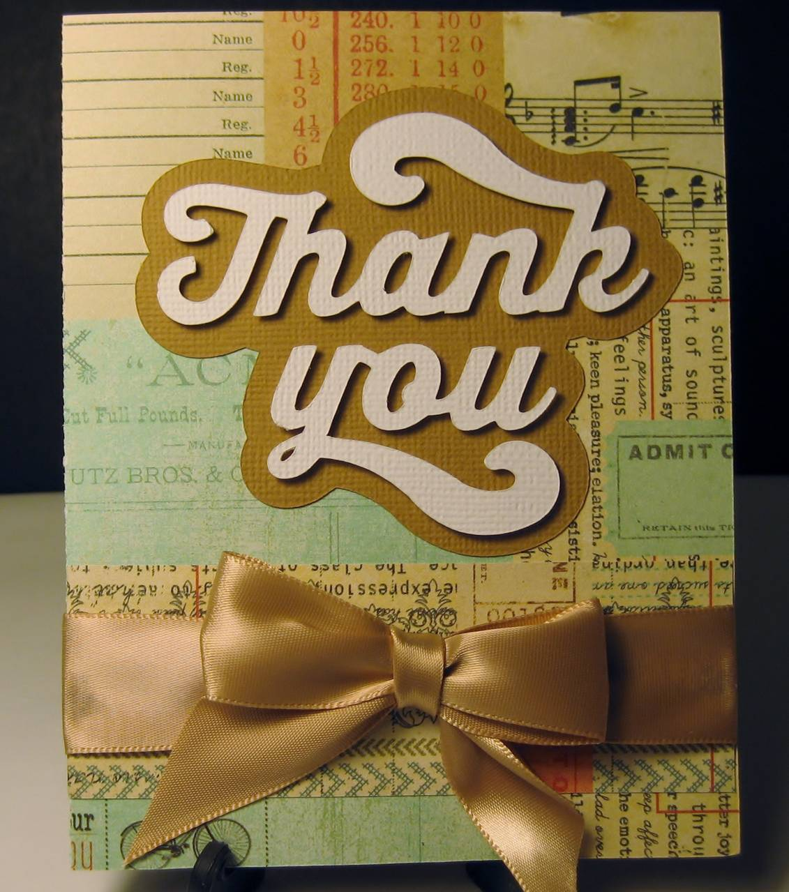 Fat Cutout Thank You Card