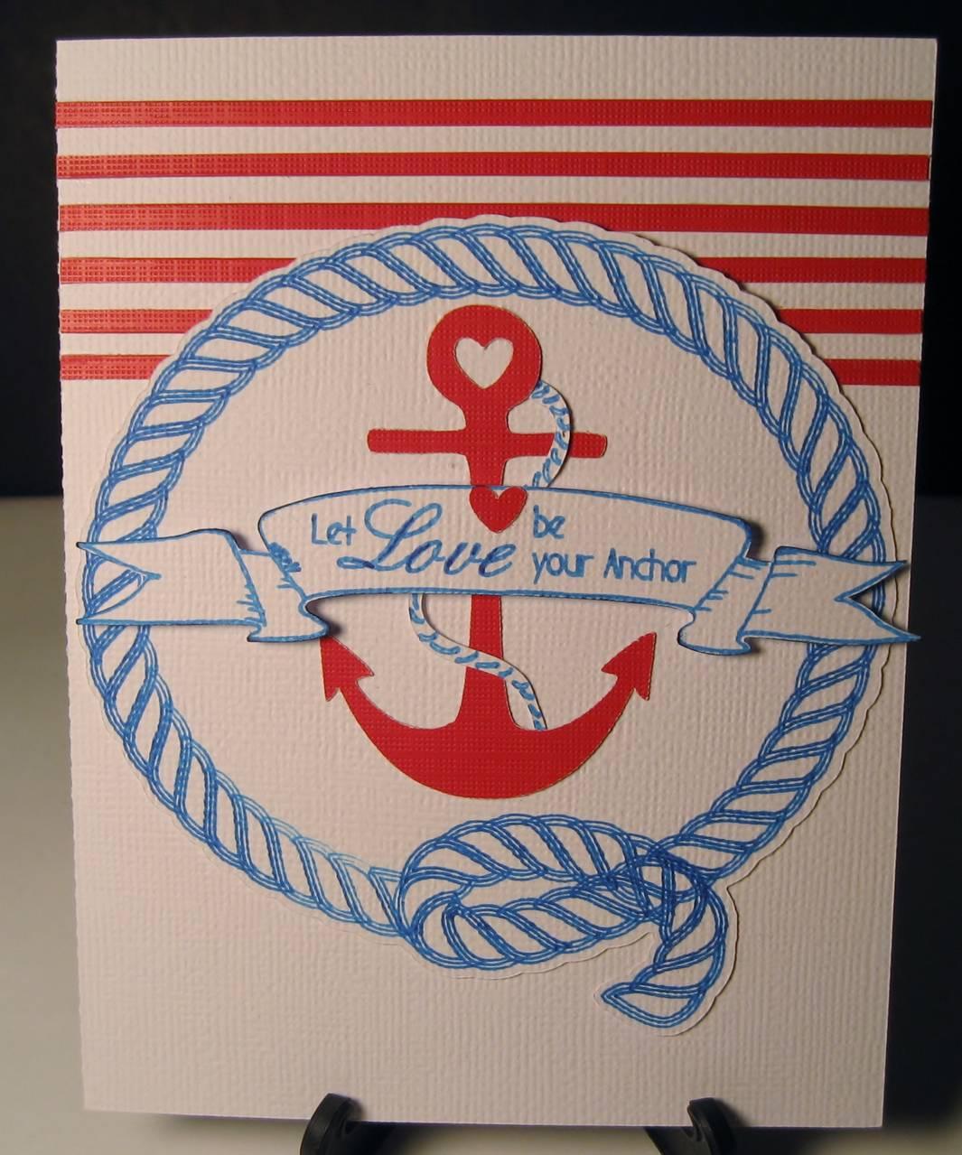 Anchor Anniversary Card