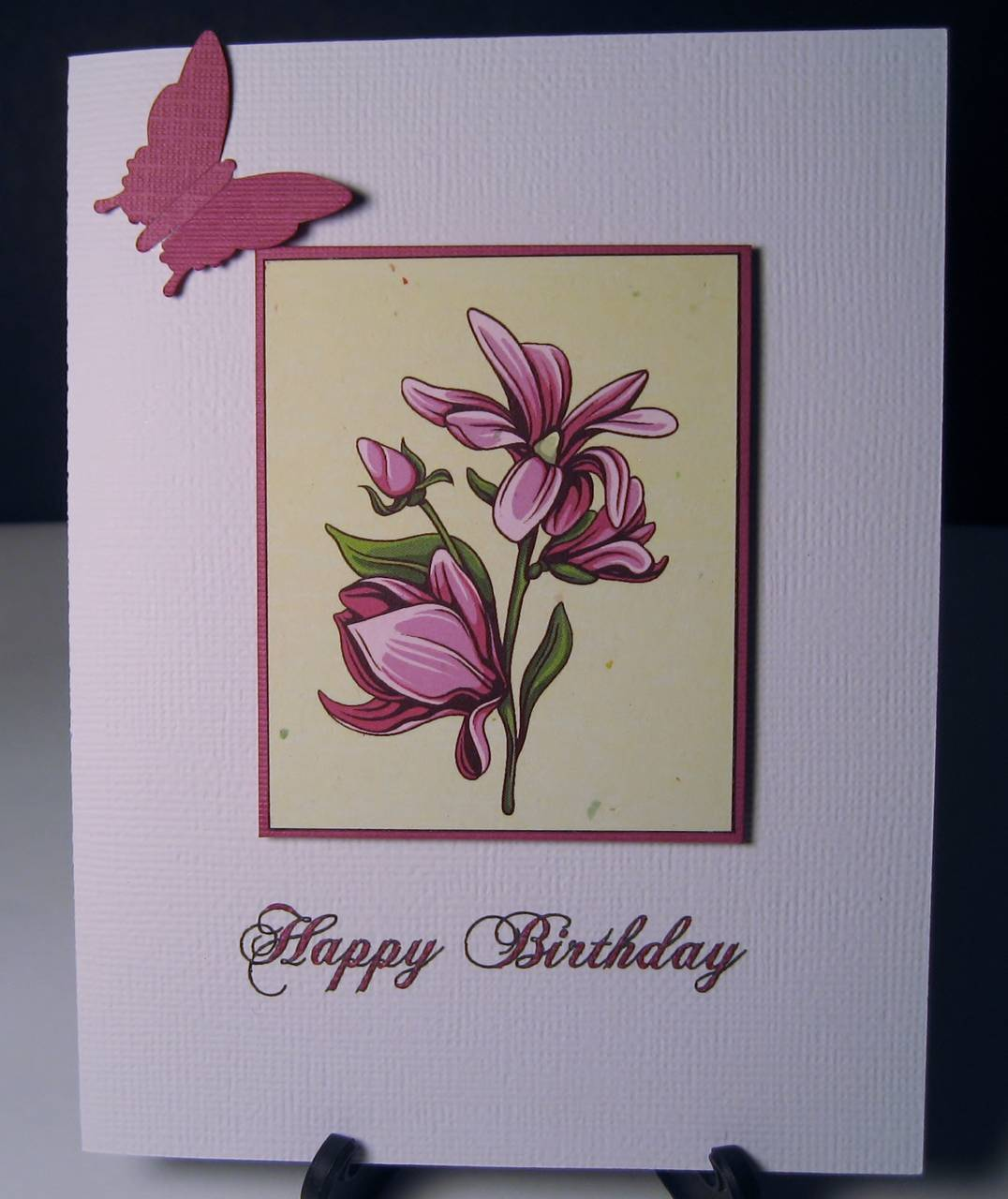 Flower Panel Birthday card