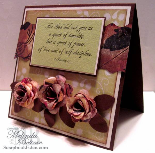 2 Timothy Rose Card