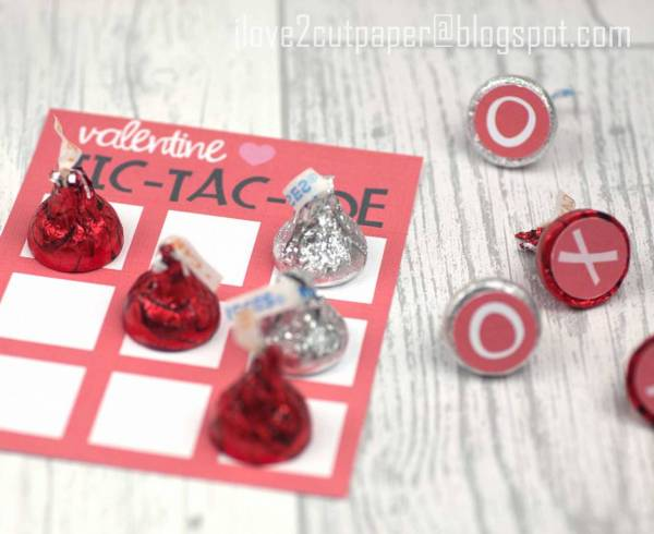 Tic Tac Toe card and gift tag