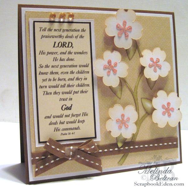 Psalm 78 Card