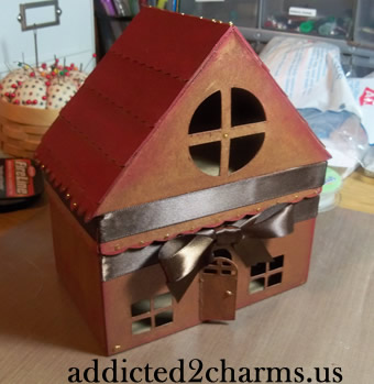 House Shaped Recipe Card Box Pazzles Albums