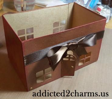 House Shaped Recipe Card Box
